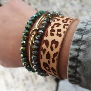 Armbandje PANTER print