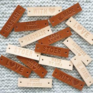 gestanst 1,5cm labels